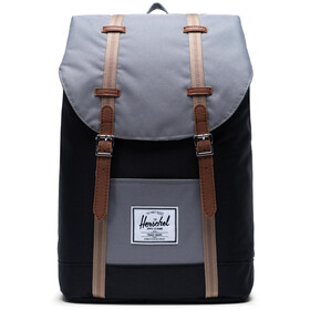 Herschel Retreat Selkäreppu 19,5l, black/grey/pine bark/tan